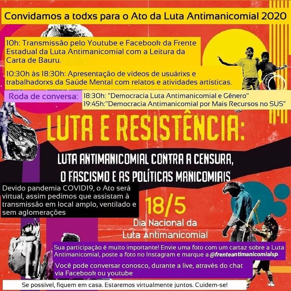 Ato da Luta Antimanicomial 2020