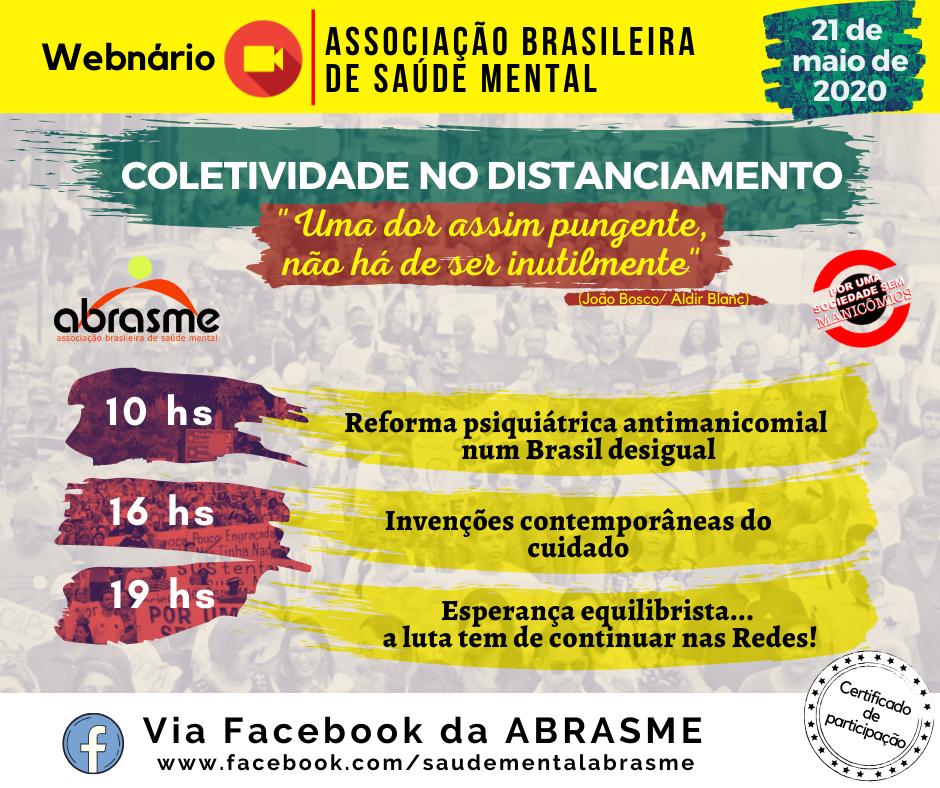 Webnário da ABRASME ocorreu no dia 21.05.2020