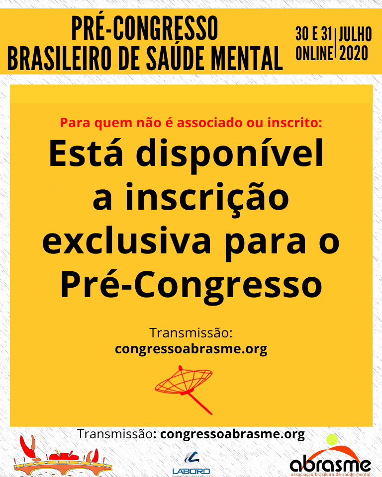 Inscrições exclusivas para o Pré-Congresso