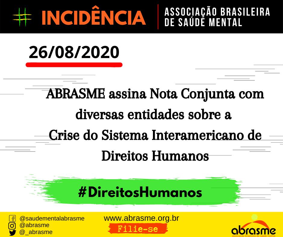 ABRASME assina Nota Conjunta sobre Crise do Sistema Interamericano de Direitos Humanos