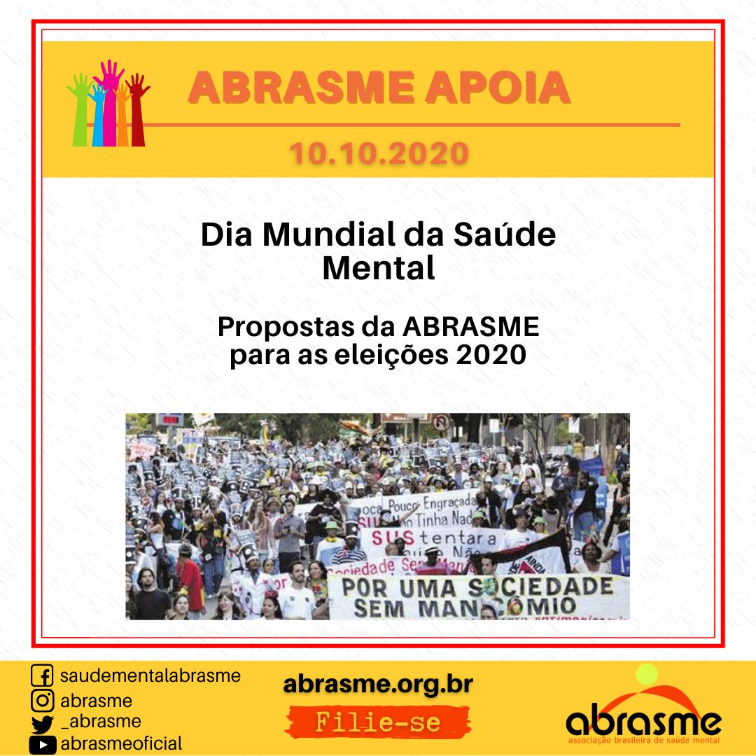 #DiaMundialSaudeMental - Propostas da ABRASME para as eleições 2020