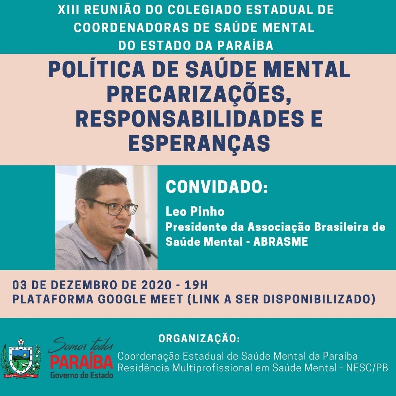 Presidente da ABRASME realiza formação na RAPS Paraíba